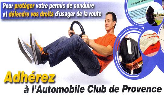 Adhérez à l'Automobile Club de Provence